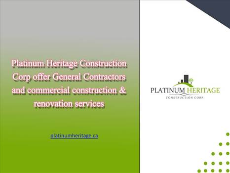 Commercial Contractors Calgary by Platinumheritage
