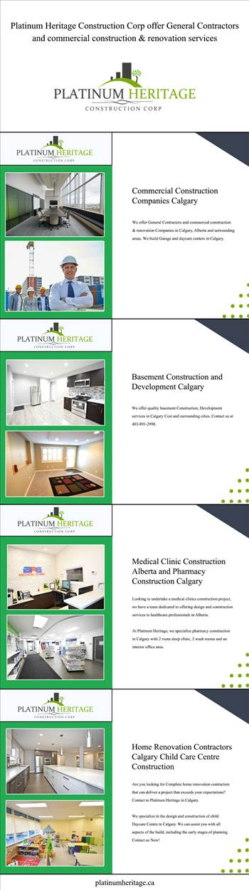 Platinum Heritage Construction Corp offer General Contractors and commercial construction & renovation services by Platinumheritage