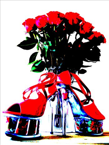 High Heels and Red Roses by PopArtMediaProductions