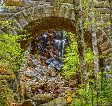 Carriage Road Falls  at Acadia, Maine by Buckmaster