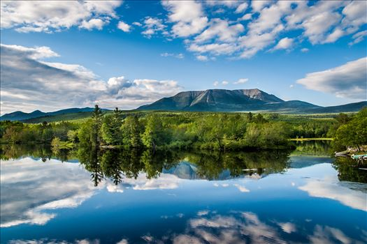 Mount Katahdin,Maine - Photograph of Mount Katahdin, Maine from Abol Bridge,which crosses the West Branch Penobscot River
