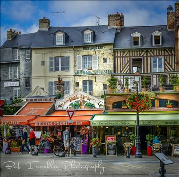 Merchants On City Street In Honfleur, France by Buckmaster