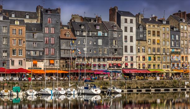 Buildings At Honfleur Harbour, France by Buckmaster