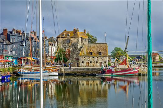 Marina in Honfleur,France by Buckmaster