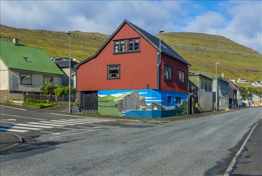 Building In Klaksvik, Faroe Islands by Buckmaster