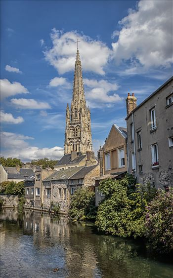 The Church In The Old Town Of Harfleur, France by Andy Morton Photography