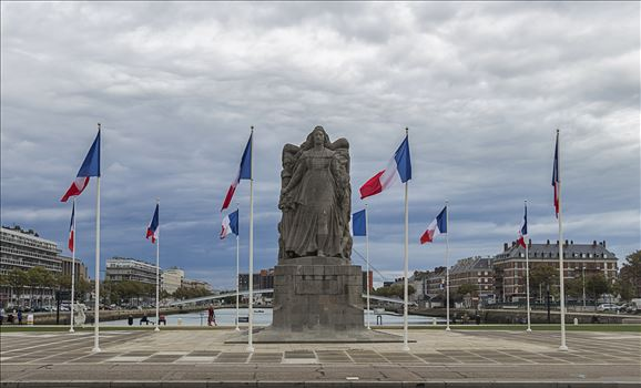 War Memorial In Le Havre, France. by Andy Morton Photography