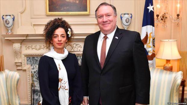 6F9502CD-0097-4862-BAF2-C74500FD49F1_w1023_r1_s.png - مایک پمپئو وزیر خارجه آمریکا با «مسیح علینژاد» فعال حقوق زنان دیدار کرد