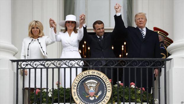 EAC769B6-79C9-402C-AA7B-8A5A31124854_cx0_cy6_cw0_w1023_r1_s.jpg - استقبال رسمی از رئیس جمهوری فرانسه توسط پرزیدنت ترامپ