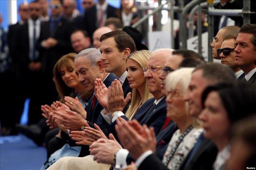29D4900B-3F94-4455-B0BB-2BA20B98D010_w1023_s.jpg - حضور بنیامین نتانیاهو، نخست وزیر اسرائیل و جرد کوشنر مشاور ارشد کاخ سفید و ایوانکا ترامپ در مراسم افتتاح سفارت آمریکا