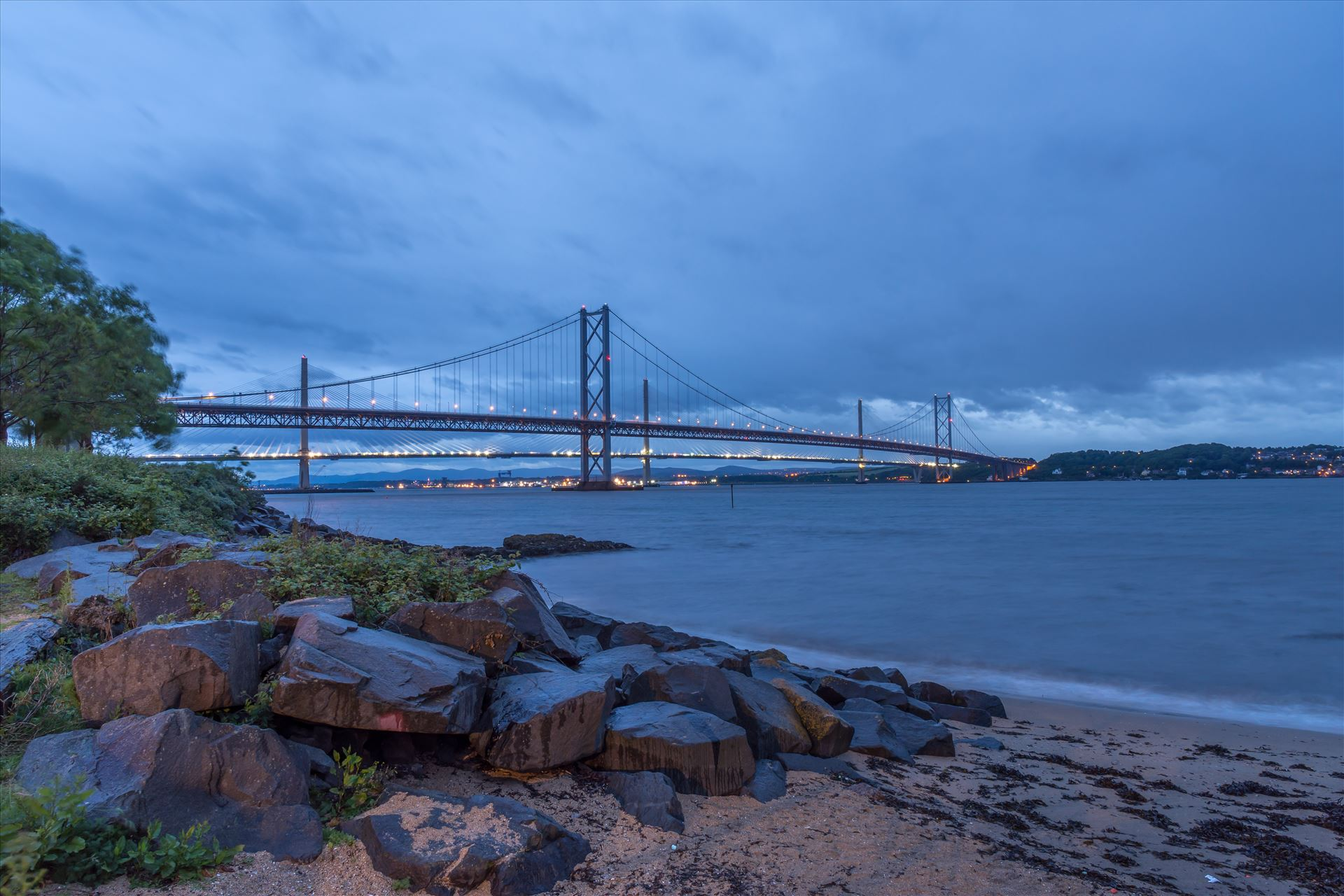 Forth road bridges Shown here is the existing Forth road bridge & behind is the new bridge which opened on 30th August 2017 at a cost of £1.35bn. by philreay
