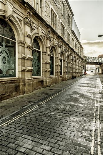 The Central - Looking down the side street next to The Central pub at the Gateshead end of the Tyne Bridge