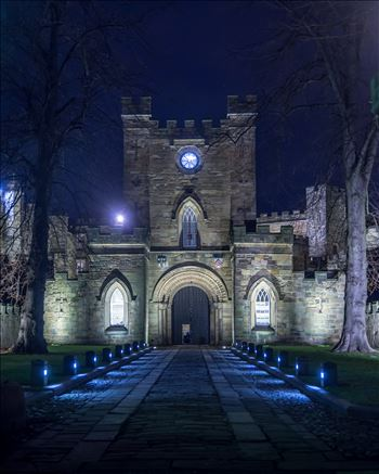 An arch leading to Durham Castle by philreay