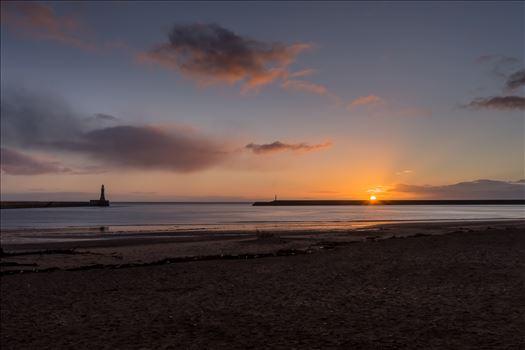 Roker pier at sunrise - The first sunrise of 2018 at Roker Pier, Sunderland