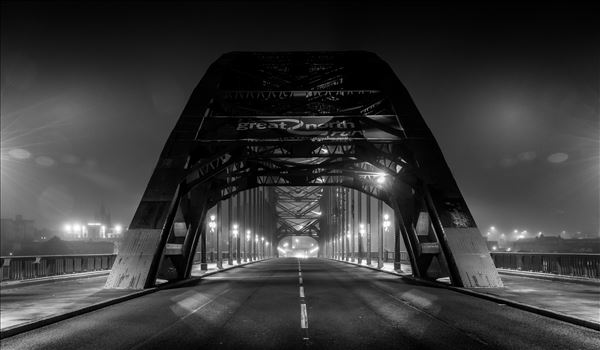 Tyne bridge - The Tyne Bridge at night