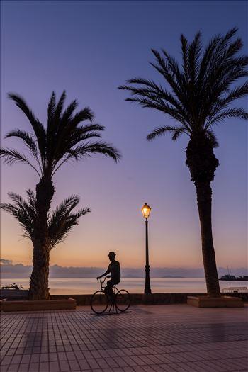 Cycling at sunrise -