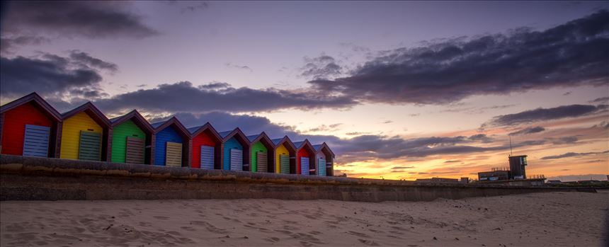 Blyth beach huts by philreay