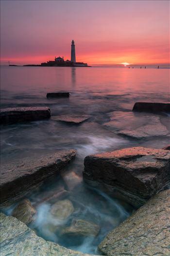 Sunrise at St Mary`s lighthouse \u0026 island, Whitley Bay 003 -