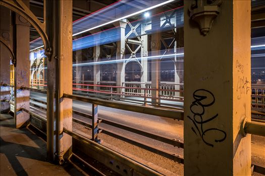Light trails on the High Level Bridge by philreay