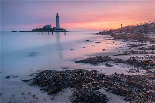 Sunrise at St Mary`s lighthouse \u0026 island, Whitley Bay 005 -