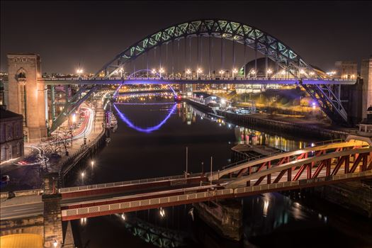 The Tyne at night 1 by philreay