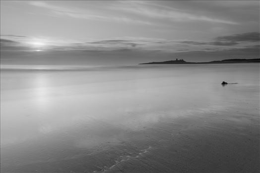 Sunrise at Embleton Bay, Northumberland. (also in colour) by philreay