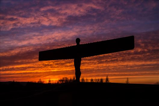 The Angel of the North at sunset by philreay