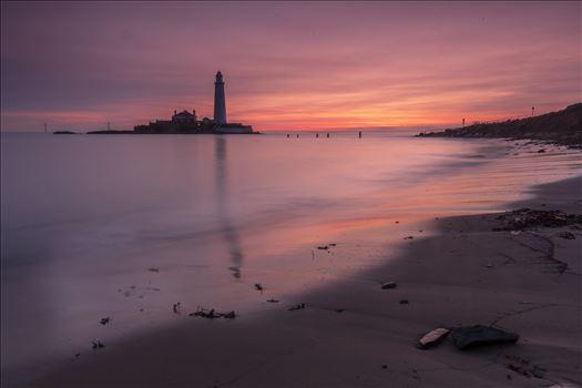 Sunrise at St Mary`s lighthouse \u0026 island, Whitley Bay 007 -