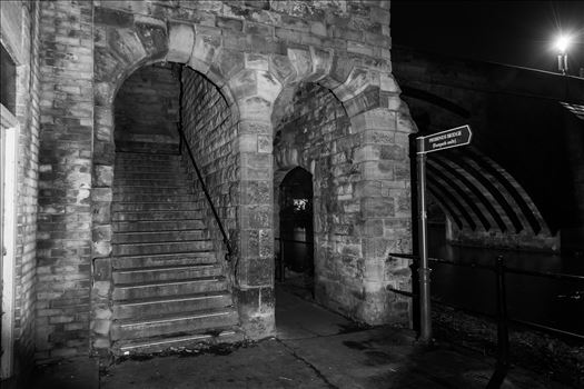 Stone arch & steps at Durham riverside by philreay