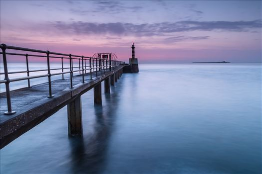 Amble pier at sunrise by philreay