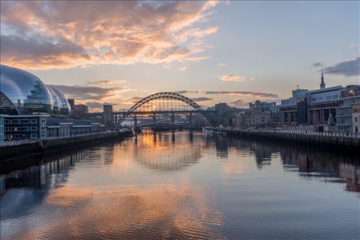 Sunset on the Tyne -