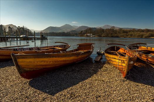 Rowing boats at Derwentwater by philreay
