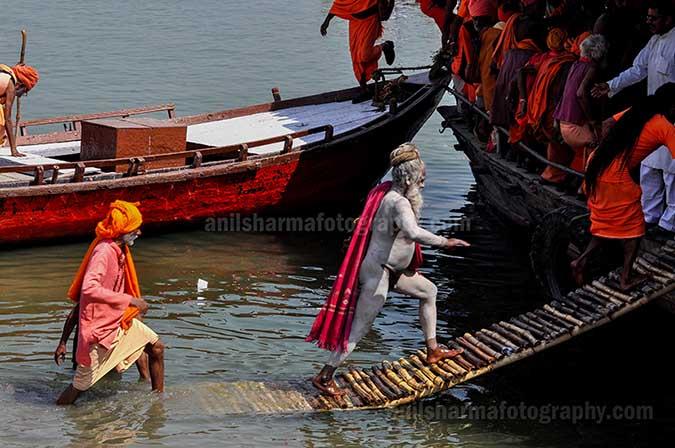 Culture- Naga Sadhu's (India) A Group of Naga Sadhu's on a boat returning to their camps at Varanasi. by Anil Sharma Fotography