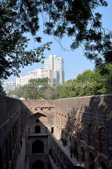 "Monuments: Agrasen ki Baoli or Stepwell at New Delhi The picture of historic ""Agrasen Ki Baoli"" (Baoli means step well) at Hailey Road, Connaught Place, New Delhi, India by Anil Sharma Fotography"