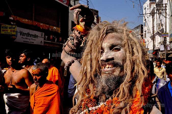 Culture- Naga Sadhu's (India) A Naga Sadhu wearing Rudrakash beat mala in Varanasi. by Anil Sharma Fotography