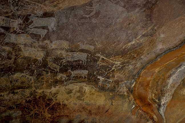 Archaeology- Bhimbetka Rock Shelters (India) Rock Shelter No. III C-50 or Rock at Bhimbetka archaeological site, Raisen, Madhya Pradesh, India by Anil Sharma Fotography