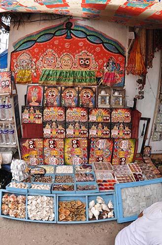 Festivals- Jagannath Rath Yatra (Odisha) Memento of Lord Jagannath, Balbhadra and Subhadra on display at the shop near Lord Jagannath Temple at Puri, Odisha, India. by Anil Sharma Fotography