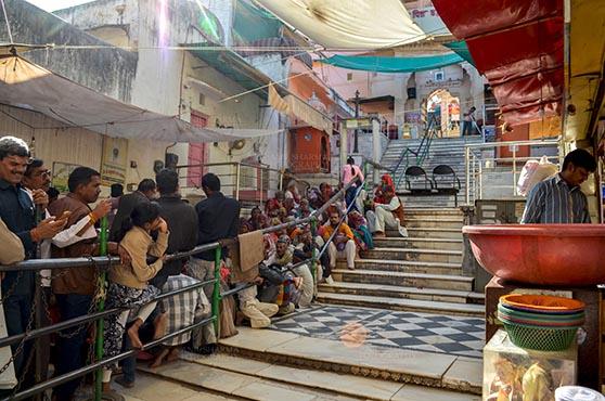 Fairs- Pushkar Fair (Rajasthan) Pushkar, Rajasthan, India- January 16, 2018: Worshippers at Jagatpita Brahma Temple, Pushkar, Rajasthan, India. by Anil Sharma Fotography