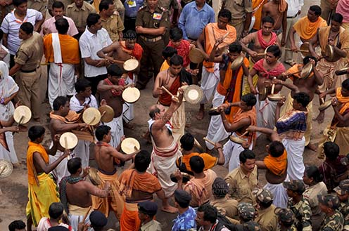 Festivals- Jagannath Rath Yatra (Odisha) Devotees singing and dancing on the occasion of Rath Yatra at Puri, Odisha, India. by Anil Sharma Fotography