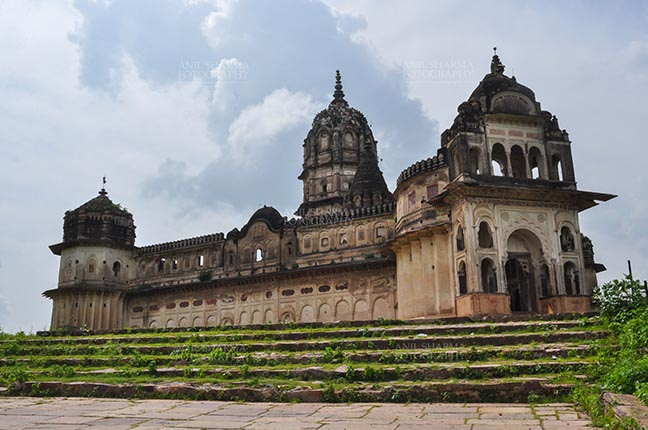 Monuments- Palaces and Temples of Orchha Orchha, Madhya Pradesh, India- August 20, 2012: the Lakshmi Narayan temple of Goddess Lashmi was constructed in 1662 at Orchha, Madhya Pradesh, India. by Anil Sharma Fotography