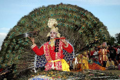 Festivals- Holi and Elephant Festival (Jaipur) Rajasthani artist performing Radha-Krishan Leela at Holi and Elephant Festival at jaipur, Rajasthan (India). . by Anil Sharma Fotography
