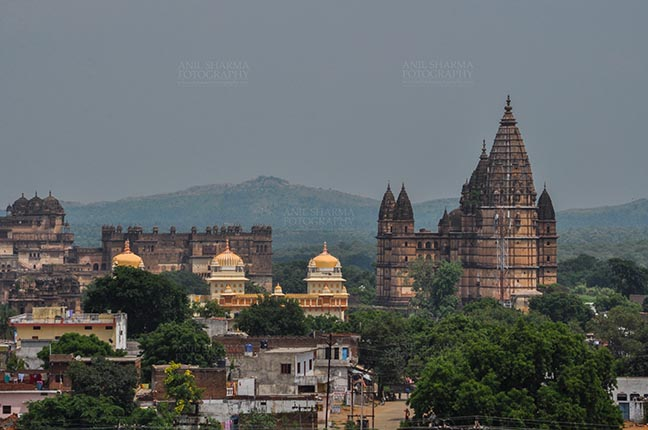 Monuments- Palaces and Temples of Orchha Orchha, Madhya Pradesh, India- August 20, 2012: Chaturbhuj temple View from Laxmi Temple, Orchha, Madhya Pradesh, India. by Anil Sharma Fotography
