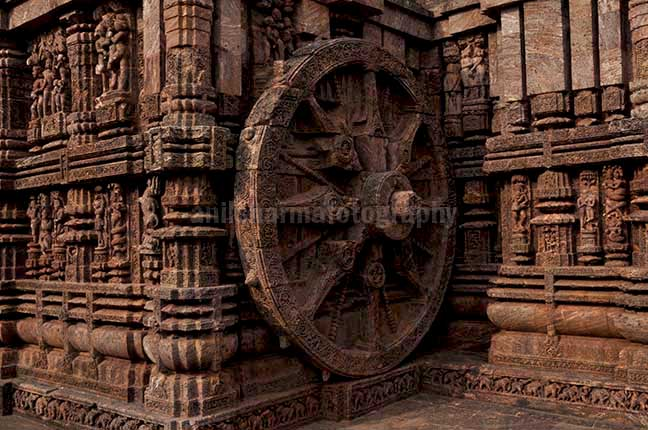 Monuments- Sun Temple Konark (Orissa) One of the highly ornate carved wheels of Sun temple at Konark, Orissa, India. by Anil Sharma Fotography