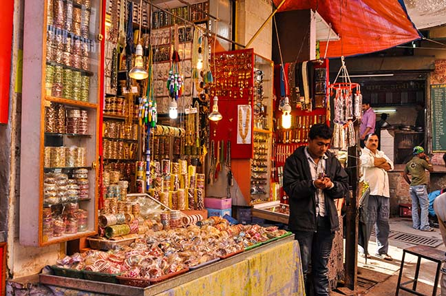 Religion- Dargah Sharif, Ajmer, Rajasthan (India) Colourful bangles shop at shine market place of Ajmer Sharif Dargah the Mausoleum of Moinuddin Chishti, a sufi saint from India at Ajmer, Rajasthan, India. by Anil Sharma Fotography