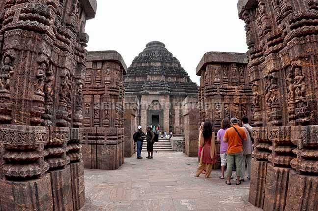Monuments- Sun Temple Konark (Orissa) Tourists at ancient Konrk Sun Temple (a UNESCO world heritage site) near Bhubaneswar, Orissa, India. by Anil Sharma Fotography