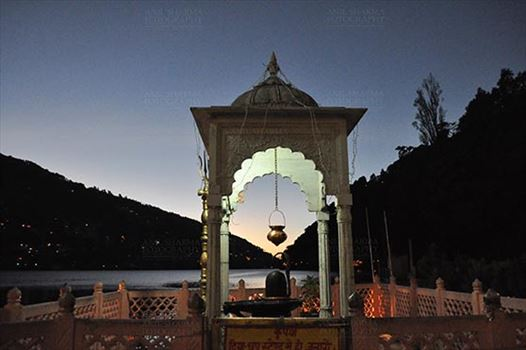 Travel- Nainital (Uttarakhand) - Nainital, Uttarakhand, India- November 11, 2015: Shivling at Naina Devi Temple, the temple devoted to Maa Naina Devi is situated right on Naini Lake near Flat at Mallital, Nainital, Uttarakhand, India