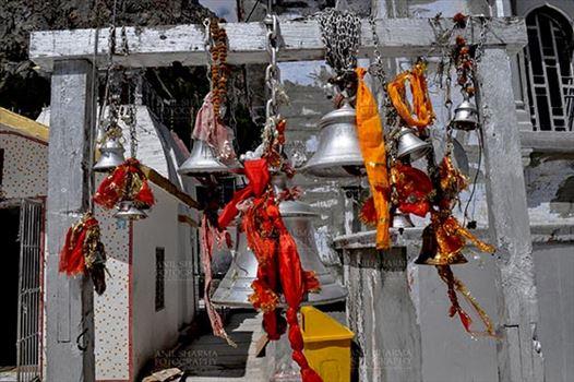 Travel- Gangotri (Uttarakhand) - Gangotri, Uttarakhand, India- May 13, 2015: Bells at Goddess Ganges Temple, Gangotri, Uttarkashi, Uttarakhand, India.