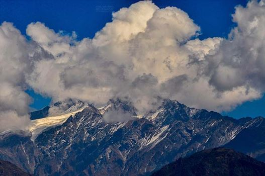 Clouds- Sky with Clouds (Panchchuli Peaks) by Anil Sharma Fotography