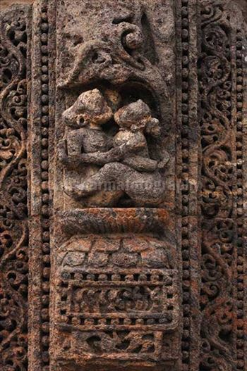 Monuments- Sun Temple Konark (Orissa) - Richly carved erotic sculptures at Konark Sun Temple a UNESCO world heritage site near Bhubaneswar, Orissa, India.