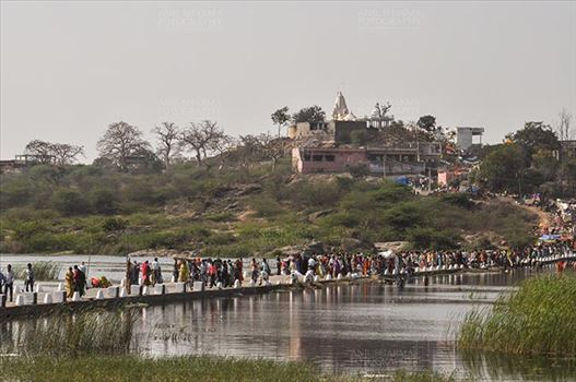 Fairs- Baneshwar Tribal Fair - Baneshwar, Dungarpur, Rajasthan, India- February 14, 2011: Devotees visiting Baneshwar Mahadev temple at Baneshwar Dungarpur, Rajasthan, India